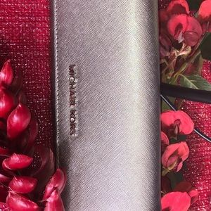 EUC Michael Kors large fun metal wallet